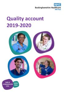 Quality account 2019-20 front cover